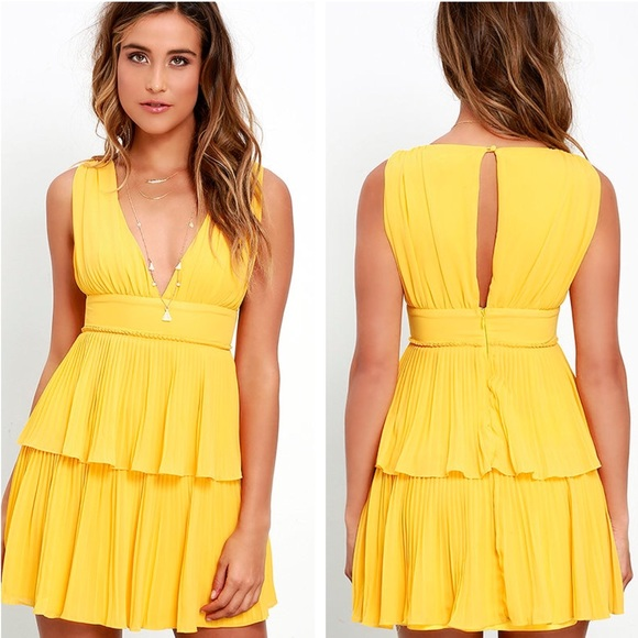 e1304c5ff63f46 Lulu's Dresses | Lulus Deserved Adoration Yellow Dress | Poshmark